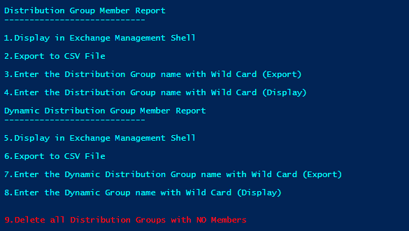 Export all Distribution Group and All members in one CSV or